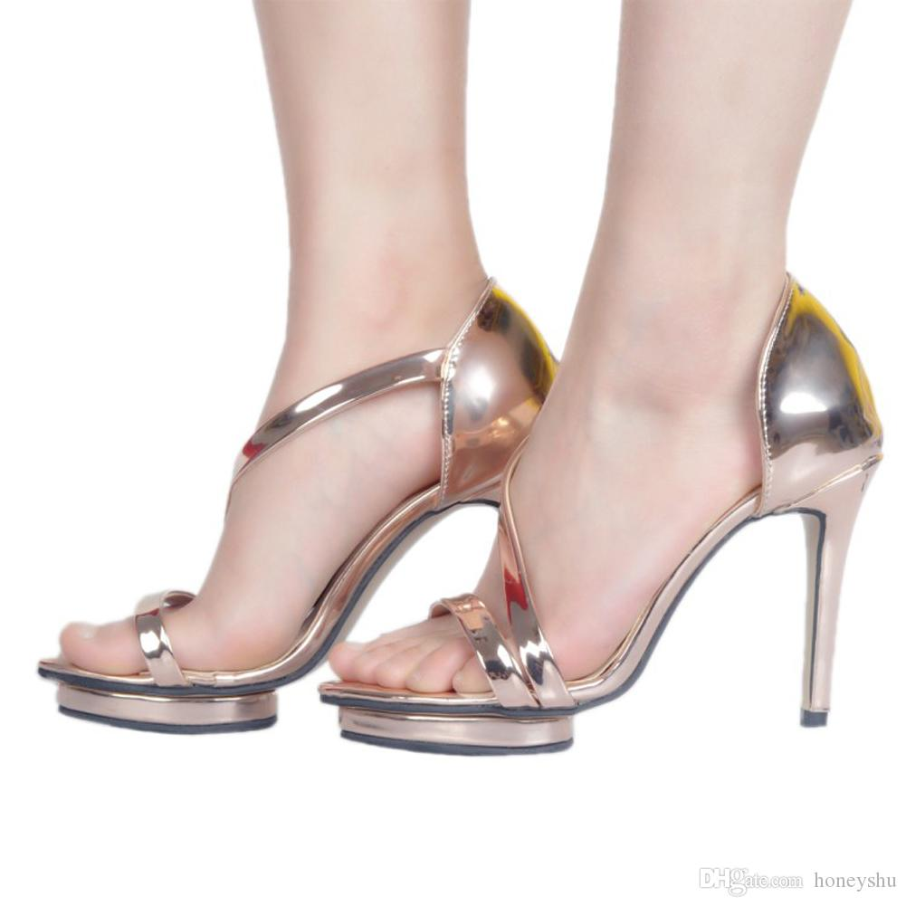 Kolnoo Handcrafted Womens Ladies Fashion High Heel Sandals Platform Sexy Summer Party Dress Shopping Shoes XD370