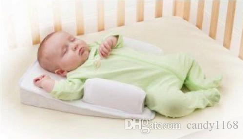 고품질 도매 - 아기 유아 베개 수면 고정 위치 추적 시스템 방지 플랫 헤드 궁극적 인 벤트 무료 배송