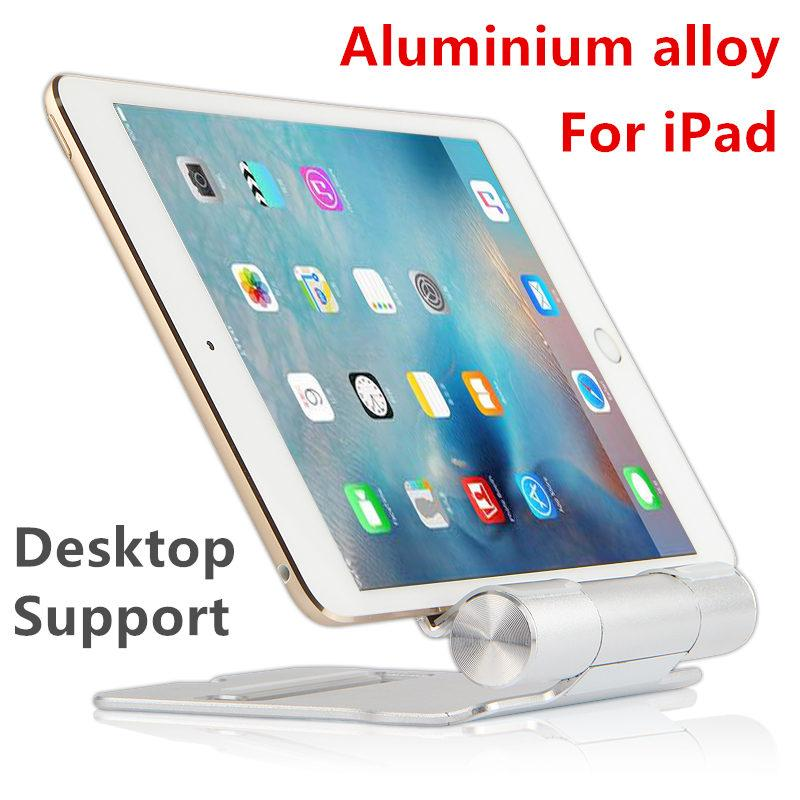 Vente en gros Tablet PC Support de stent métallique Support de bureau pour iPad Air 2 iPad mini 1 2 3 4 Vitrine en alliage d'aluminium 7.9