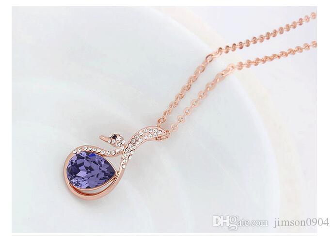 2017 nuovo 1000SE qualità merci donna collana di cristallo brutto anatroccolo originalità ornamenti ciondolo vendita di gioielli