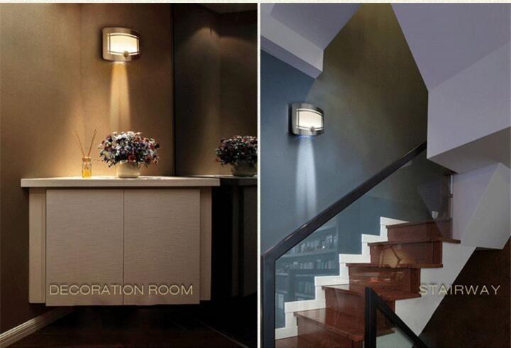 LED Night Light Natural White Battery Powered Motion Sensor Bedroom Decoration Lighting wall lamp/Hallway led sensor lamp