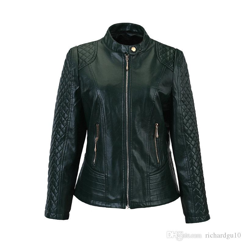 Women Faux Leather Jacket 2017 New Spring Plus Large Size 4XL 5XL Women Motor Jackets Slim PU Leather Lady Motorcycle Jackets Coats