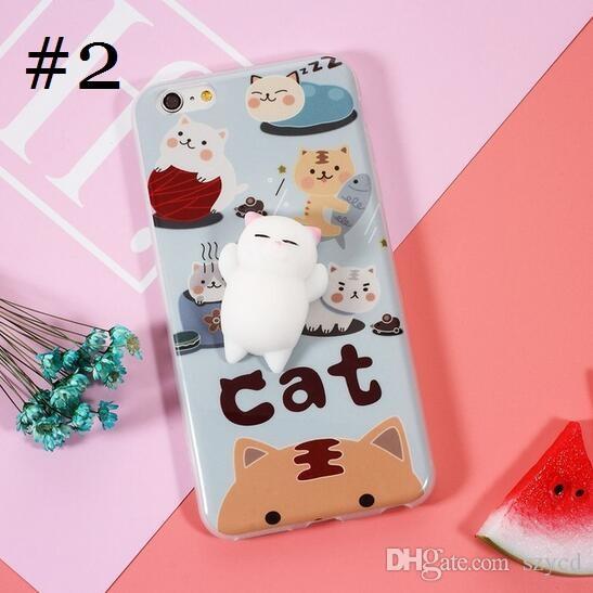 3D Cute Soft TPU Squishy Sleeping Cat Panda Bear Cartoon Silicone Phone Case iPhone Case for 6 6S Plus 7 7Plus