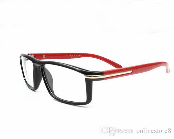 Italy Brand Fashion Men Women Square Eyeglasses Frames Unisex Myopia Frames Glasses PC Computer Radiation Sunglasses Oculos