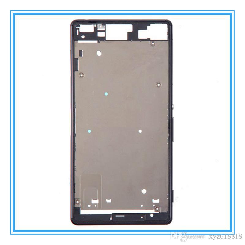 DHL envío Original LCD de repuesto carcasa frontal placa del bisel para Sony Xperia Z3 solo D6603 D6653 / Z3 Dual D6633 D6683 medio Chass