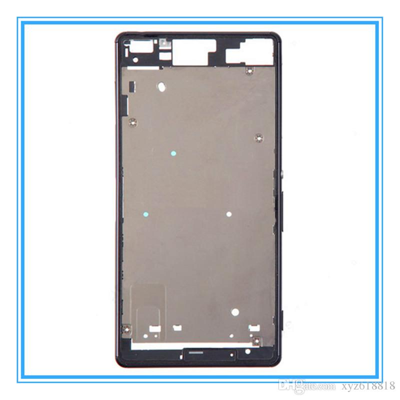 DHL доставка оригинальный замена ЖК-передняя рамка корпуса рамка пластина для Sony Xperia Z3 один D6603 D6653 / Z3 двойной D6633 D6683 средний Chass