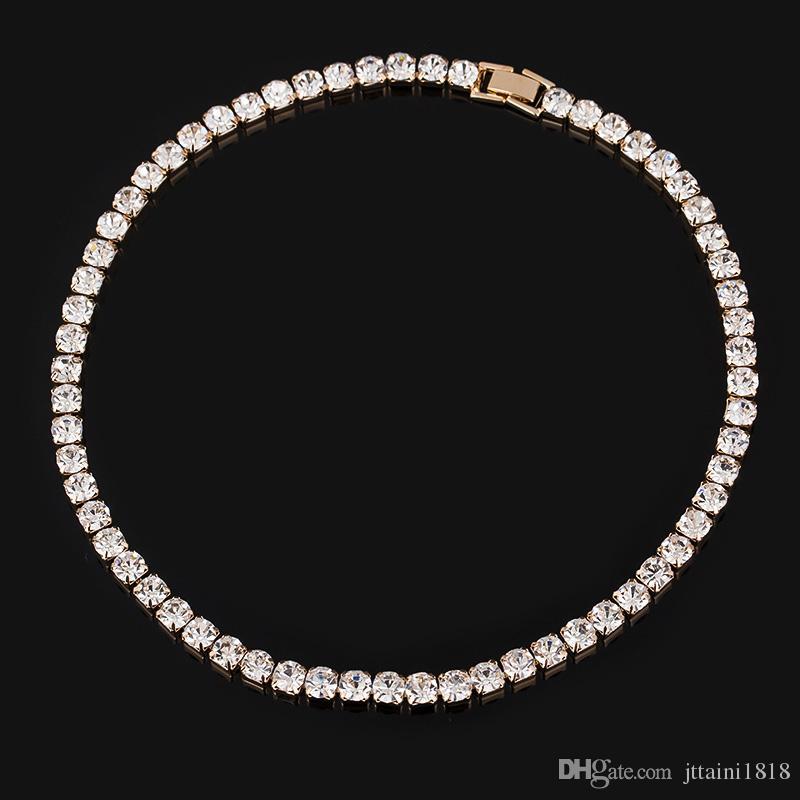 Heißer Verkauf Neue Frauen Kristall Strass Kragen Halskette Halsketten Für Mädchen Hochzeit Geburtstag Schmuck Freies Verschiffen # N062