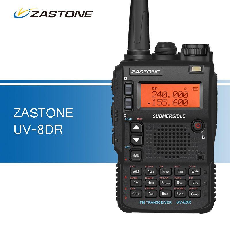 Wholesale- UV-8DR Three Band Walkie-talkies 136-174/240-260/400-520mhz  Portable Ham CB Radio Handy Transceiver Walkie Talkie for Hunting