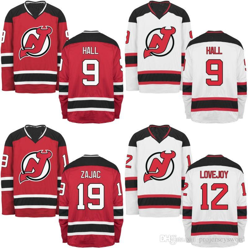 eb612f32a New Jersey Devils Jersey Men s 9 Taylor Hall 11 Stephen Gionta 12 ...