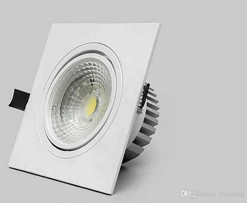 Levou Luzes de Teto COB quadrado downlight LEVOU 10 W 15 W dimmable led recesso holofote AC110v 220 v + driver led CE UL SAA