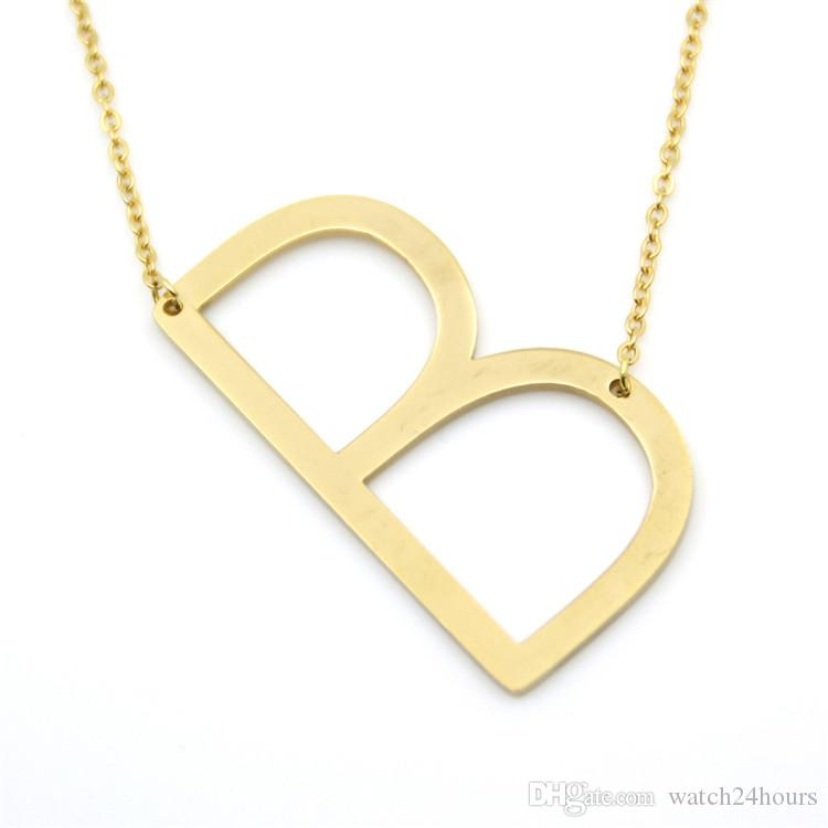 gold j pendant yellow initial necklace