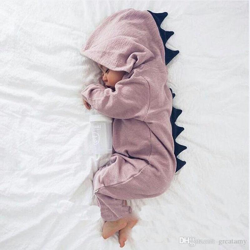 babykleidung Cartoon Jungen Onesies Herbst Dinosaurier Langarm Kleinkind Strampler Mode Niedlichen Säugling Overall Herbst Body