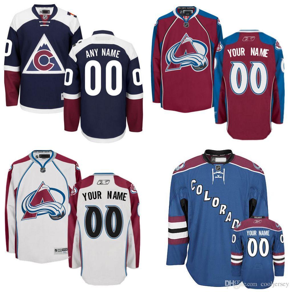 2019 Discount Hockey Jerseys Colorado Custom Colorado Avalanche