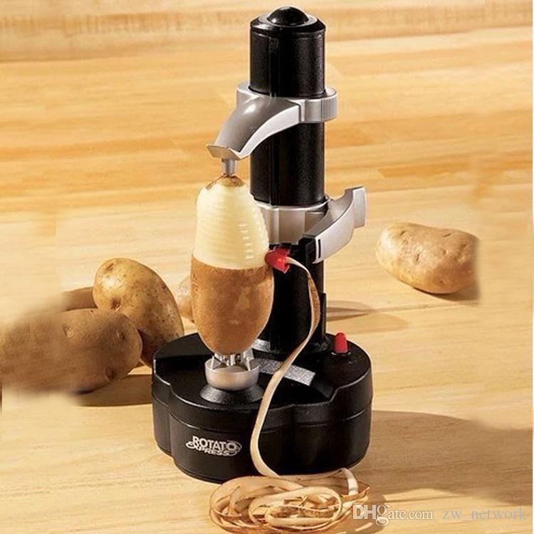 Elektrische Frucht-Apfelschäler-Kartoffel-Zesters-Schälmaschine Automatische Schäler-Zester mit Netzteil beste Küchenwerkzeuge