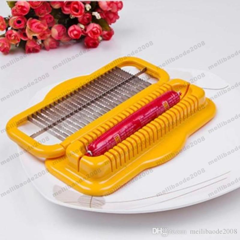 Kreative Edelstahl Hot Dog Cutter Slicer Sichere Maschine Geschirr Wurst versandkostenfrei MYY
