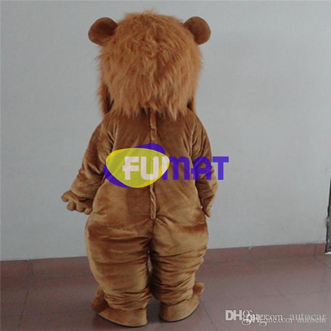 FUMAT Adult Size Cute Lion Costume Halloween Natale OEM Cartoon mascotte Abbigliamento partito Fancy Dress Picture Personalizzazione