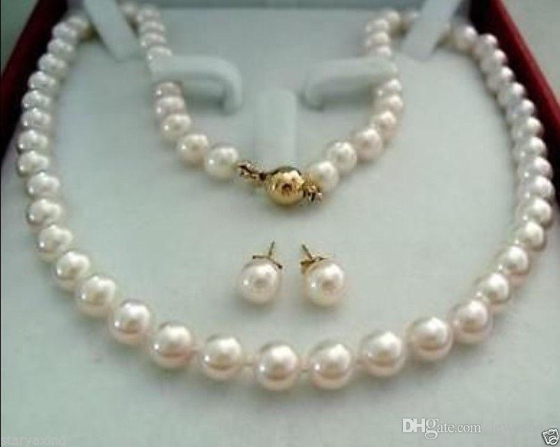 8eaf12571777 Compre ENVÍO GRATIS14K Cierre De Oro 8 9MM AAA + Blanco Akoya Collar De Perlas  Cultivadas Pendiente A  17.07 Del Jewes662
