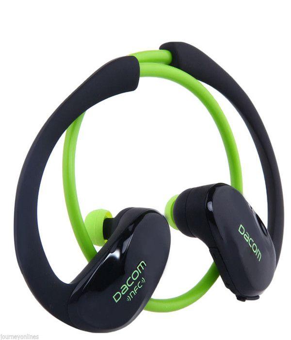 Sport Kopfhörer Dacom Athlet Stereo Bluretooth V4.1 Kopfhörer Mic Head Mounted Ohren hängen drahtlose Art und Weise hochwertige Musikgeräte