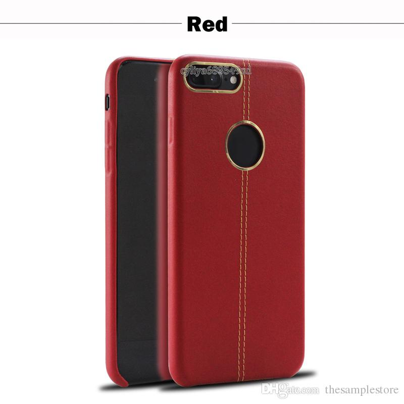 Leather soft case leather stitching with metal ring case TPU Cell phone Cases for smartphone android phone