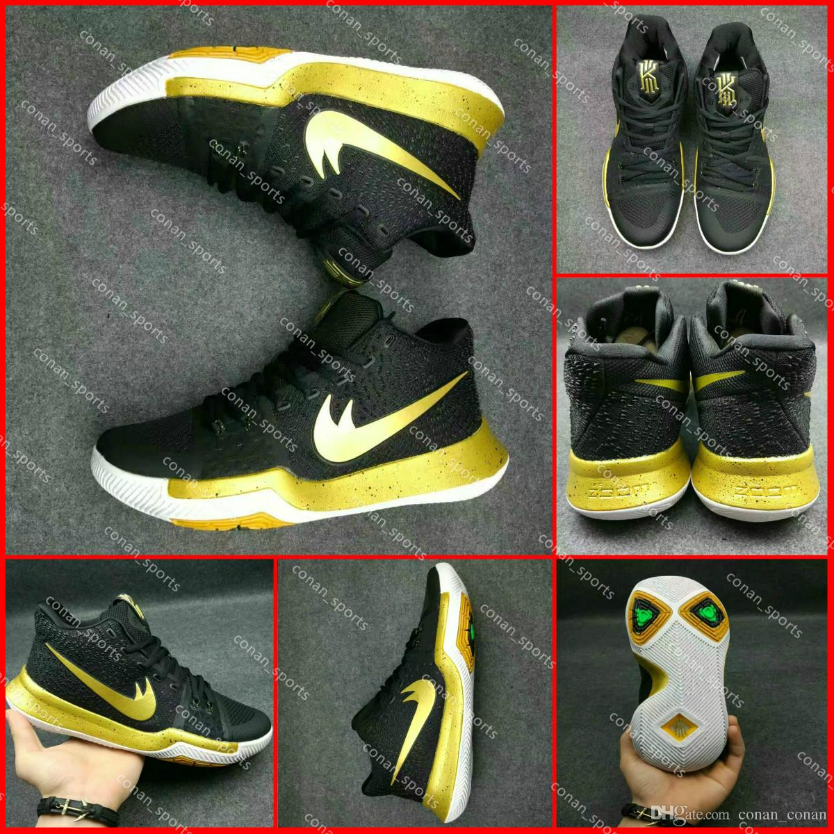 216baee192e Kyrie All Star Shoes Boys Black And Gold Kyrie Irving Shoes 4 ...