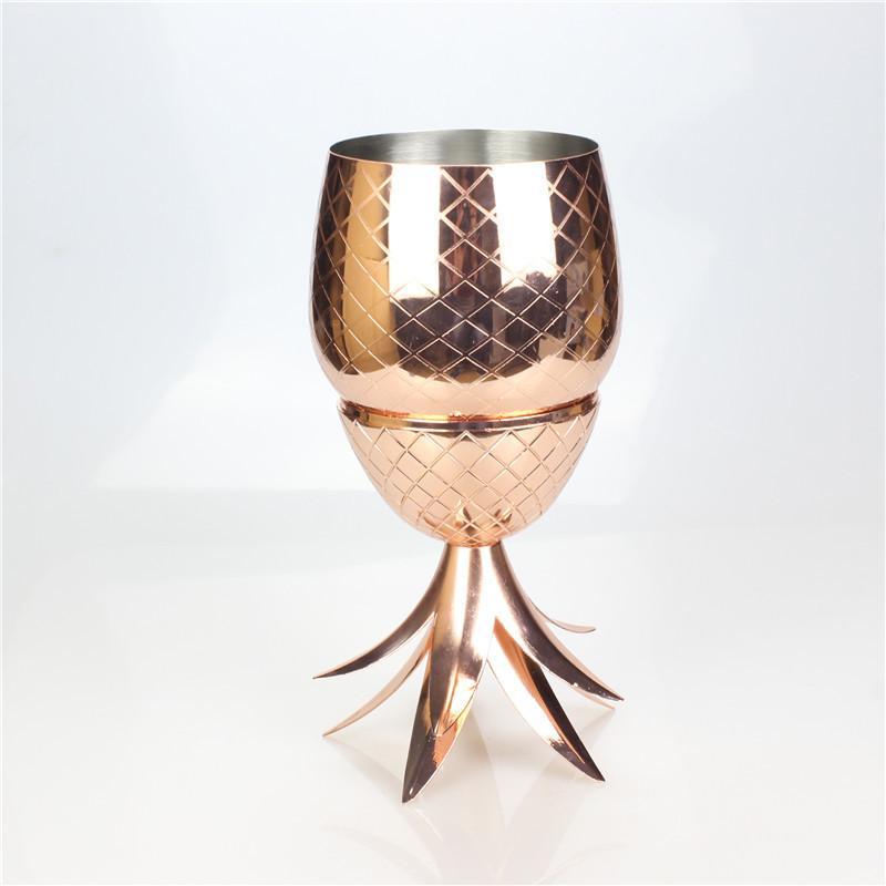Acier inoxydable 750ml Moscou gobelet tasse Disponible Or Rose Or manuel galvanoplastie laiton Cocktail Tasses à boire Bar Outil en acier inoxydable DHL