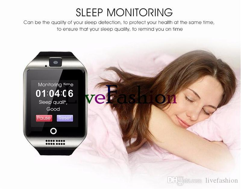 Bluetooth Smart Intelligent Mobile Phone Watch Q18 Wristwatch Waterproof Apro Hansfree Support SIM Card Camera For Cell Phone Sleep Monitor