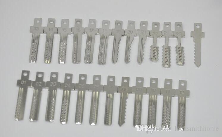 JSSY Electric 25 pin Lock Pick Gun Dimple Lock Bump Attrezzo del fabbro Set lockpick pick gun