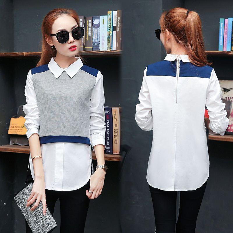 4813a778675e7 2017 Spring Kimono Elegant Women Body Blouse And Tops Ladies Long Sleeve  Peter Pan Collar Plus Size Shirt Blusas Camisetas Mujer High Quality Blouse  Skirt ...