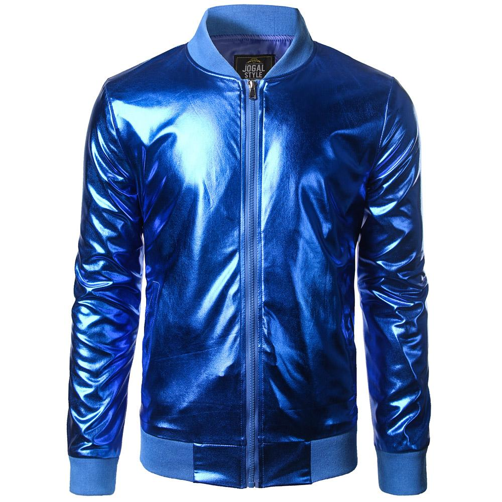 Relatively Wholesale New Trend Metallic Royal Blue Jacket Men/Women Bomber  HI16