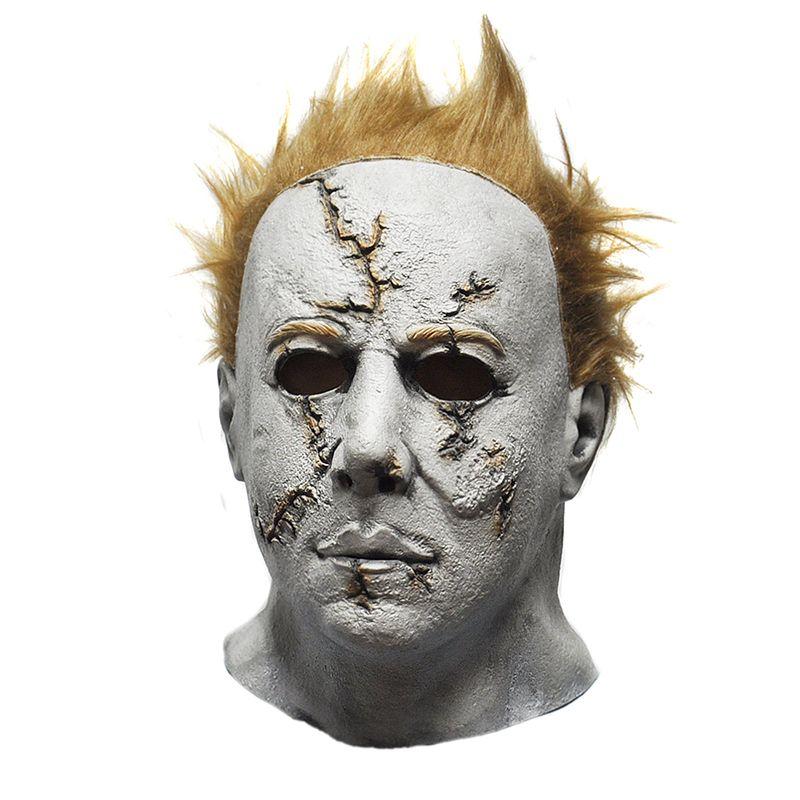 Halloween Michael Myers Costume.Wholesale Horror Movie Halloween Michael Myers Mask Adult Party Masquerade Cosplay Latex Mask