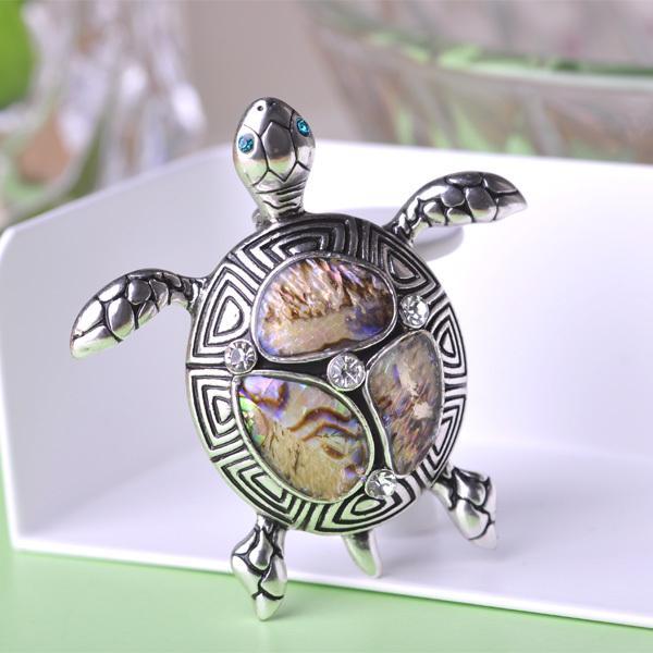 Brooche Turtle Pin Enamel Silver Plated Ow5B2Ji4c