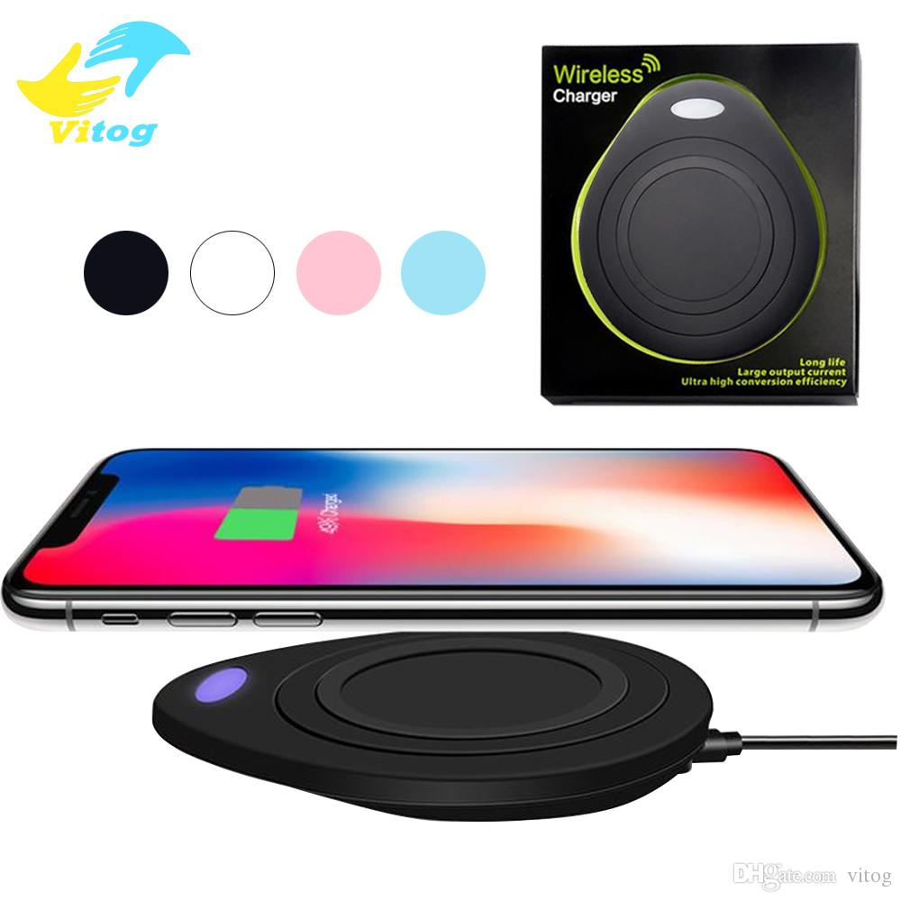 For iphone 8 plus X QI Wireless Charging Portable Charger Pad Fantasy High  Efficiency for Samsung Galaxy S6 edge s7 edge s8 plus note8