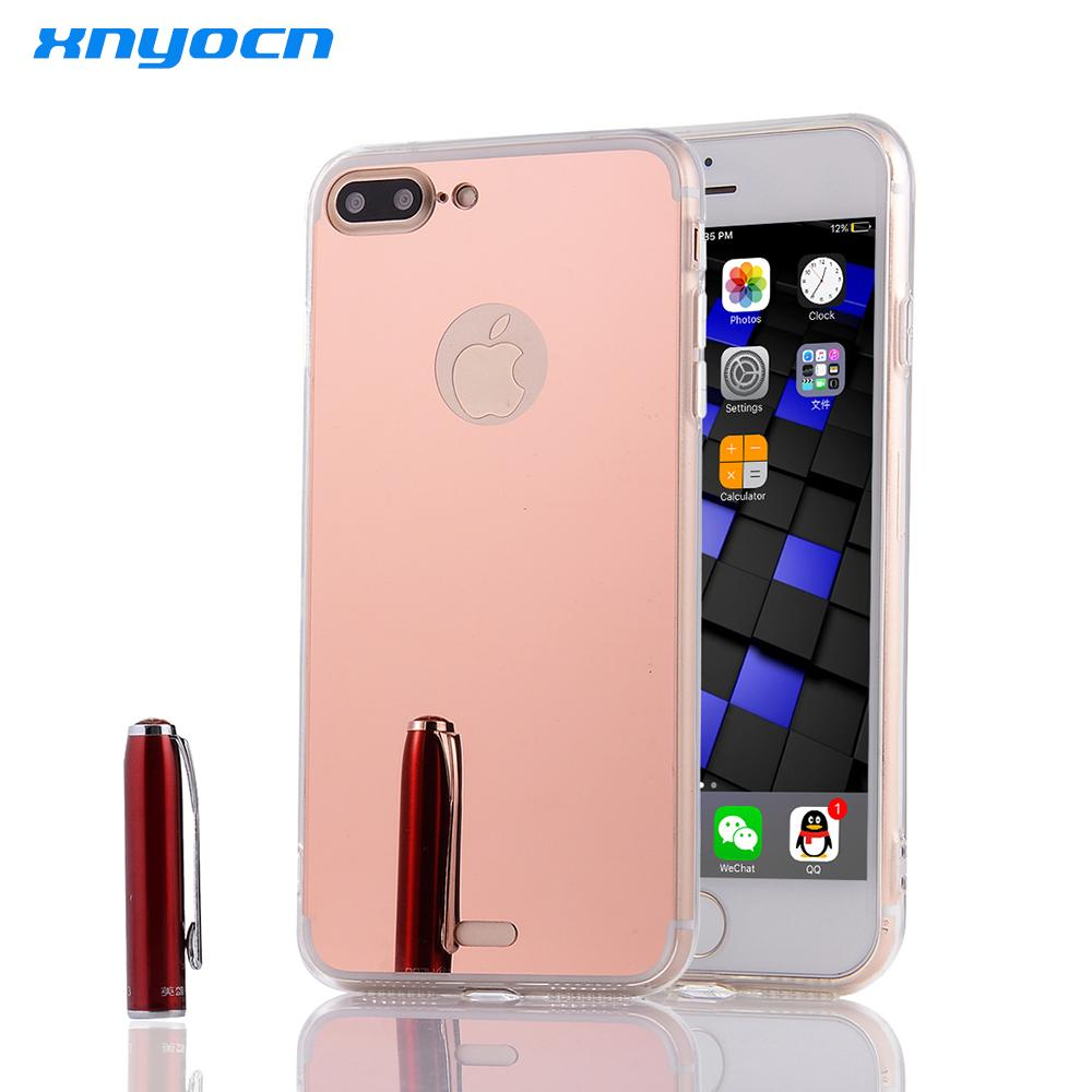 Rose Gold Luxury Mirror Electroplating Soft Clear TPU Cases For ... ddba6a5f98782
