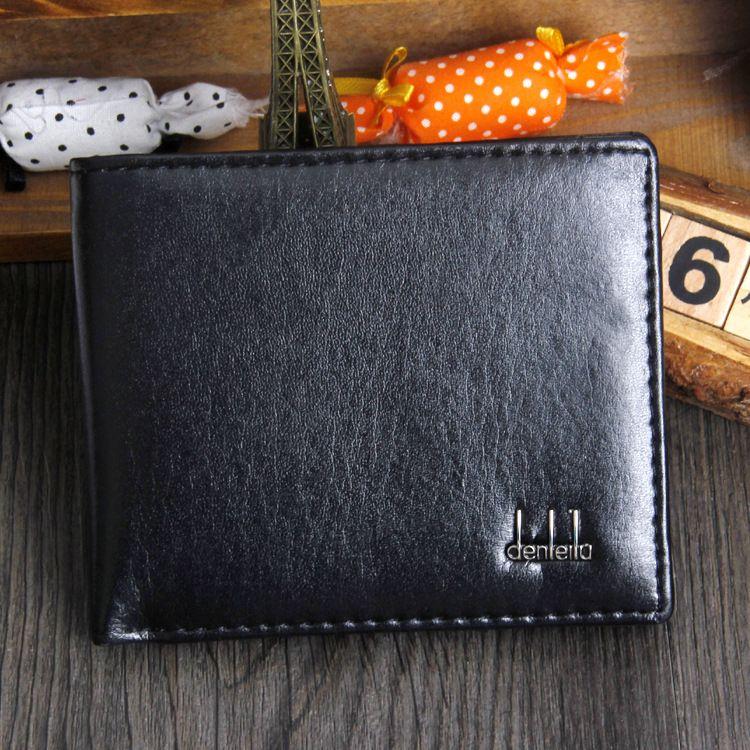 Cartera de cuero sintético barato de la PU de los hombres Carteras de crédito / identificación de los bolsillos del dinero de alta calidad