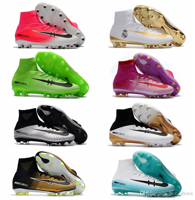 181d755904e 2019 2017 Mens Football Boots Neymar JR Cheap Magista Obra 2 Mercurial  Superfly CR7 FG Soccer Cleats High Top Soccer Shoes New Cristiano Ronaldo  From ...