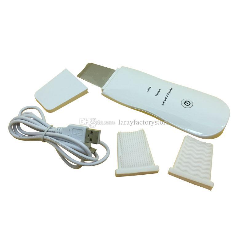 Purificação ultra-sônica portátil da pele da máquina da terapia do ultra-som do purificador da pele Facilidade ascendente ultra-sônica portátil da massagem da pele do ultra-som da pele branca e da picareta