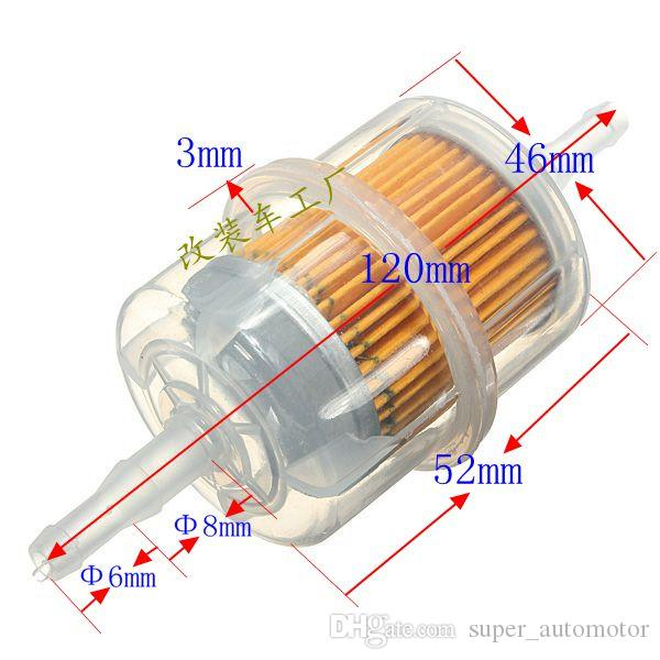 2018 /Pack Paper Gas Fuel Filter For Tricycle Motorcycle Universal