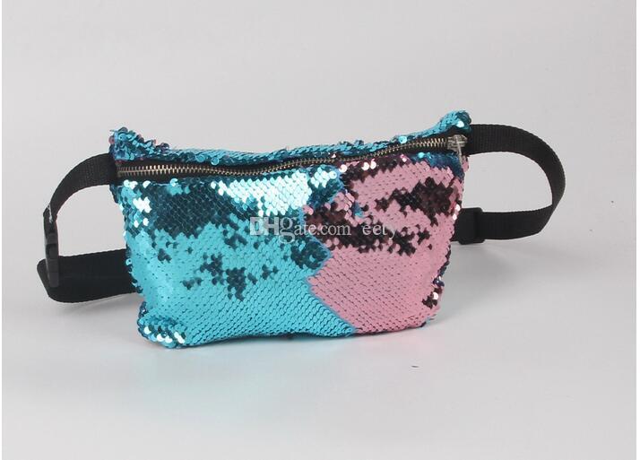 6 цветов мода Русалка ослепительно блеск сверкающие Bling блестки спортивная талия портмоне сумка женщины сцепления кошелек