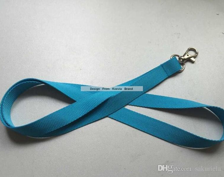 Hot Sell Blue Mobile Phone Accessories Cell Phone Camera ID Card Grey Neck Straps Lanyard Gifts 15MMx90cm