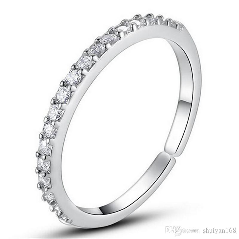 Grosshandel Hochzeit Ring Formen Silber Diamant Band Ringe Heisser