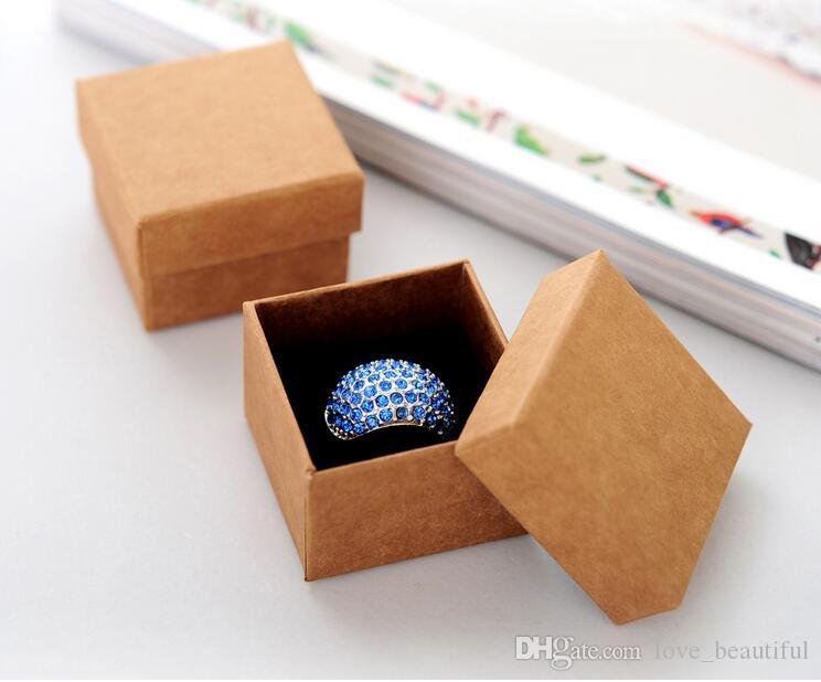 High Quality Jewelry Box/ Lovers Ring Box/Gift Package/ Kraft paper Box For Women Jewelry Storage box display 5*5*3.8cm