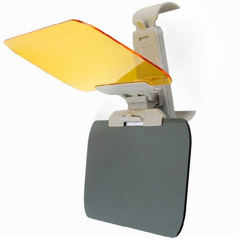 2 в 1 автомобиль Автомобиль Солнце анти-УФ-блок козырек день и ночь без бликов анти-ослепить зонт зеркало водитель очки щит