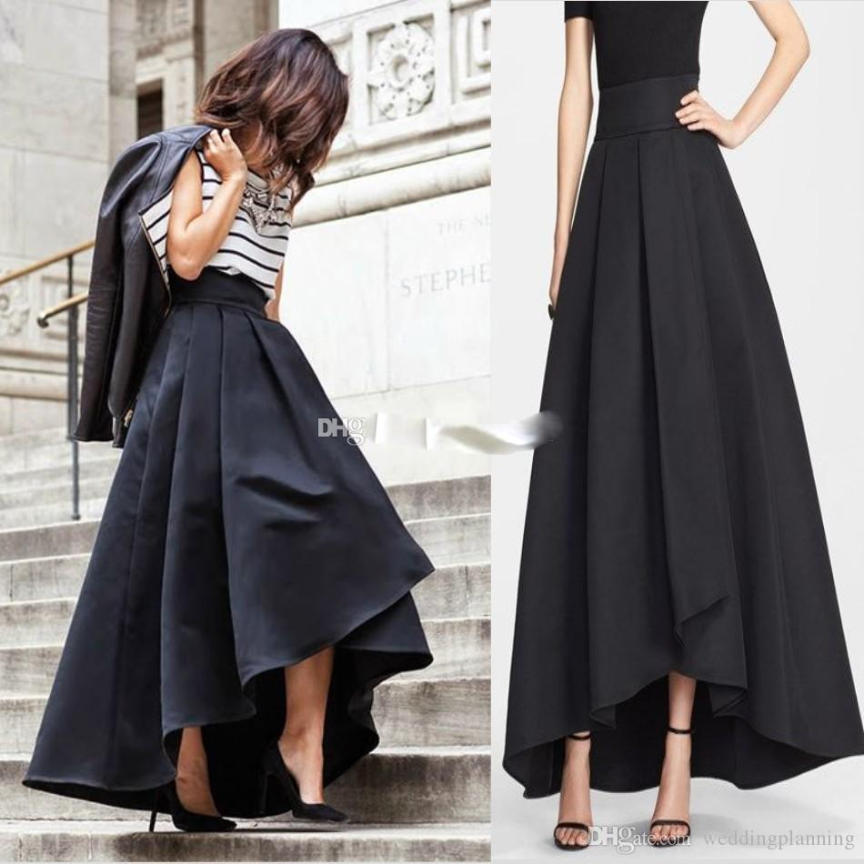 2017 2017 Cute Satin Skirts For Women Ankle Length Custom Made ...
