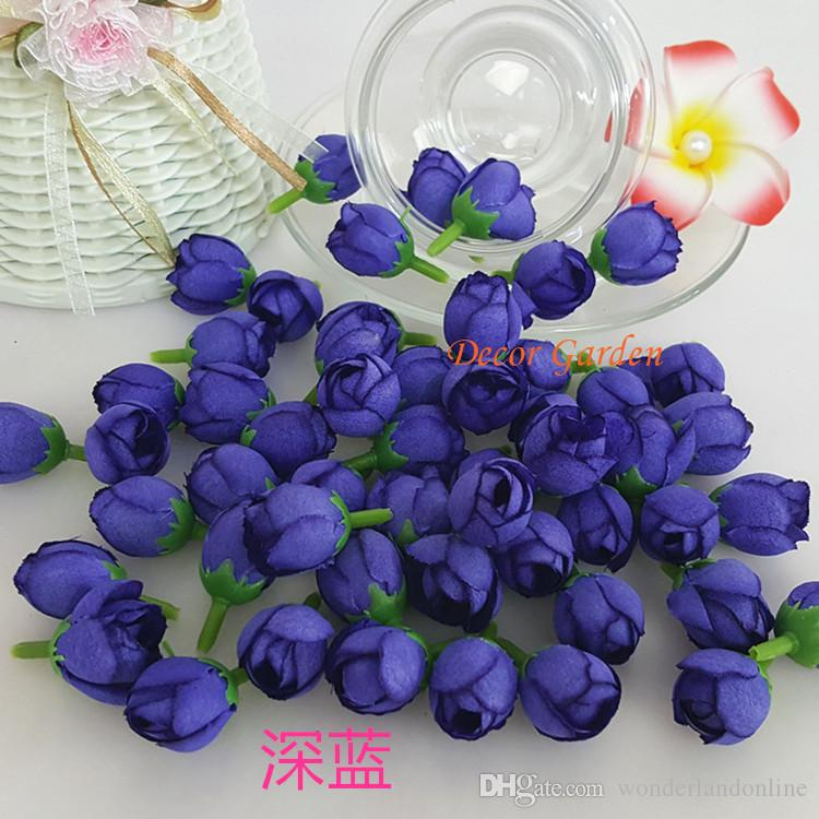 Artificial Small Tea Bud Flowers Silk Roses Hand Made For Diy Head Garlands Wedding Wrist Flowers Decoration Accessories fts01