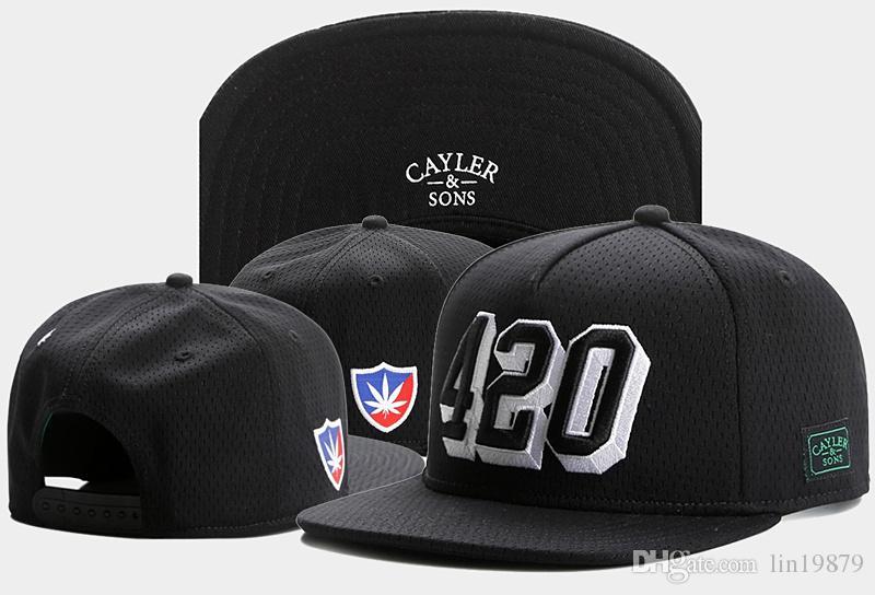 c18dfecb Brand new Cayler & Sons 420 mesh Snapback Hats Casquettes chapeus men women  pop hip hop sports Baseball Caps