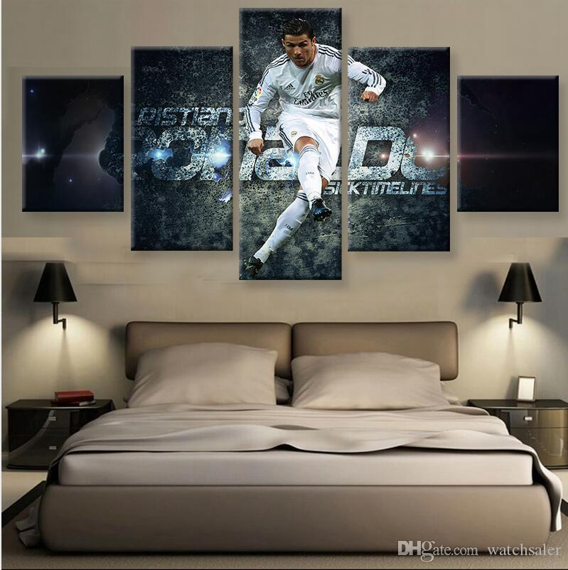 2018 hd printed football cristiano ronaldo canvas painting for Cristiano ronaldo wall mural
