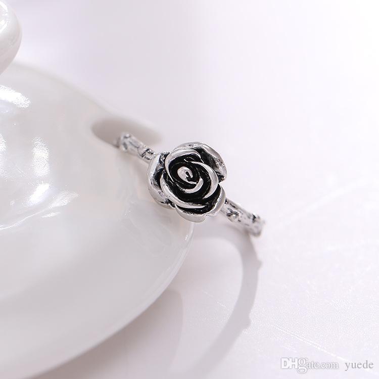 Moda 925 silve acessórios exclusivos rose tailândia sterling silver retro anéis compatível com pandora charme jóias para as mulheres