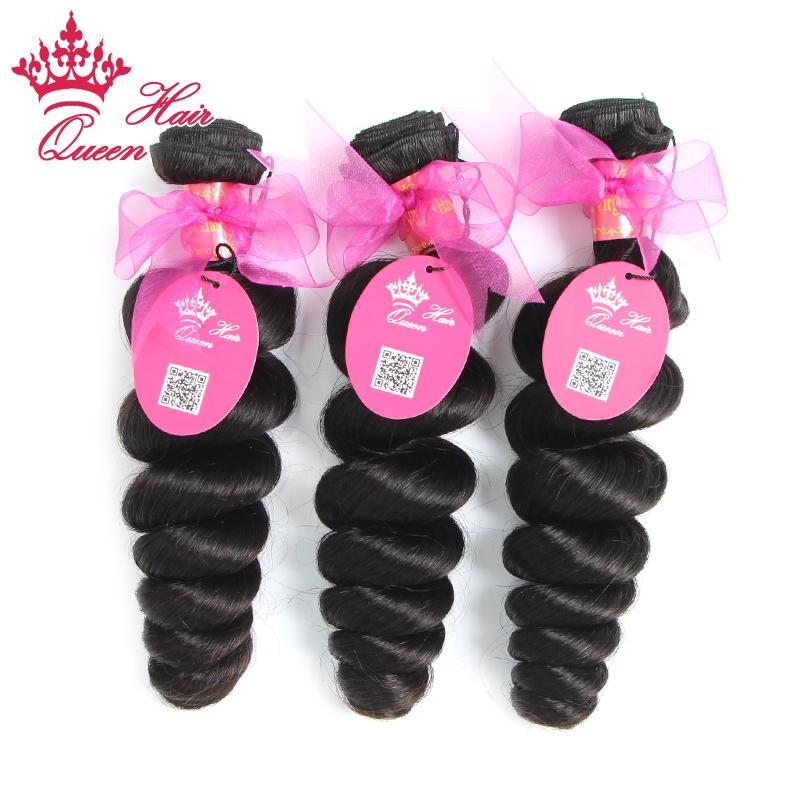 Queen Hair Products Gemischte Länge / Virgin Brasilianische Haarverlängerungen Lose Welle WEITERE WEINEN MASCHINEN WEFT Schneller Versand 8 -28 Natürliche Farbe