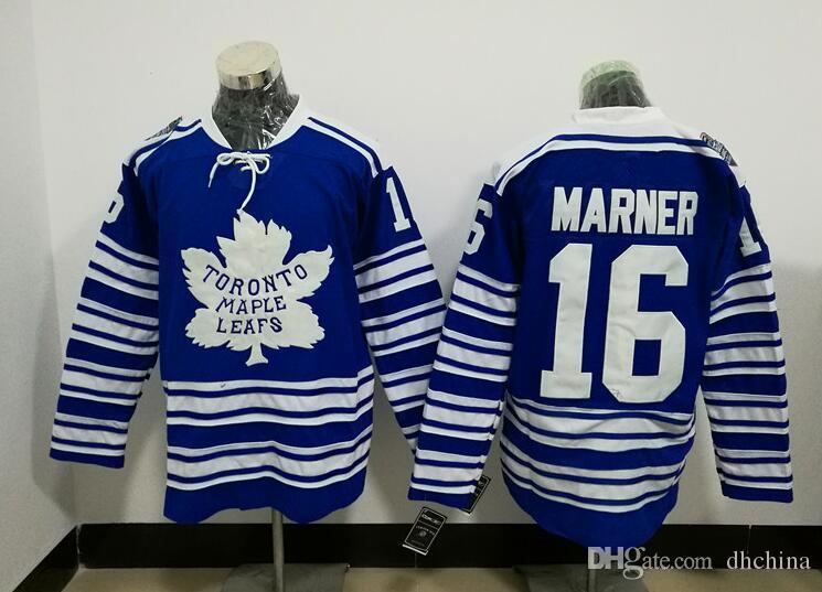 Compre New Maple Leafs Jersey   16 Marner Camisolas De Hóquei Inverno  Clássico Azul Tamanho 48 56 Costurado De Alta Qualidade Barato Preço Mix  Encomendar ... 513ef2c4a1d