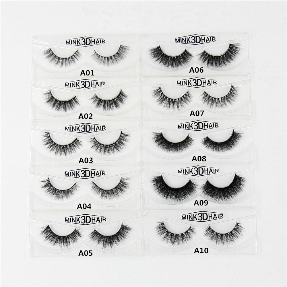 5b26e0dc702 Wholesale 3D Mink Eyelashes Natural Extension Long Cross Thick Mink Lashes  Handmade Eye Lashes A01 A19 Blank Box Available Eyelash Extension Supplies  ...